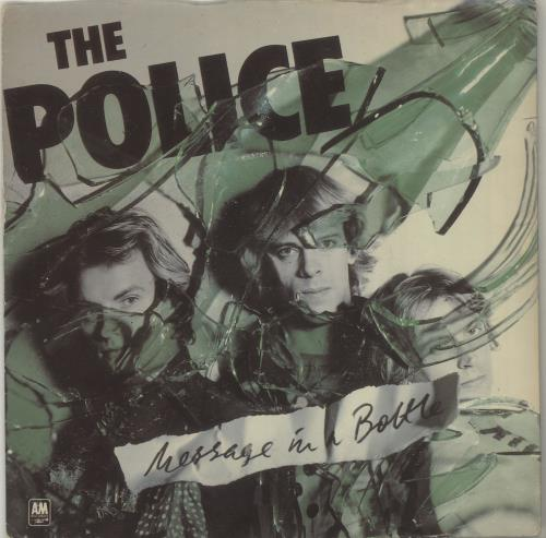 "The Police Message In A Bottle - Green - P/S 7"" vinyl single (7 inch record) UK POL07ME09683"