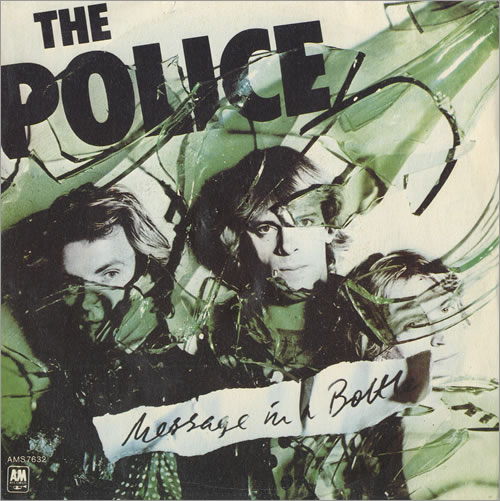 """The Police Message In A Bottle 7"""" vinyl single (7 inch record) Italian POL07ME96042"""