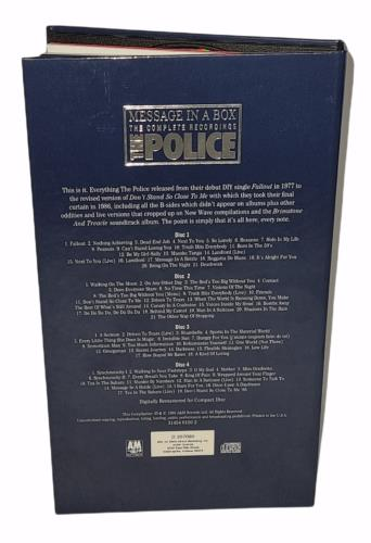 The Police Message In A Box 4-CD album set US POL4CME774172