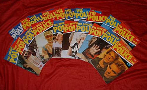 The Police Official File - Set Of 20 fanzine UK POLFAOF259663