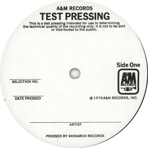 The Police Outlandos D Amour Test Pressing Us Vinyl Lp