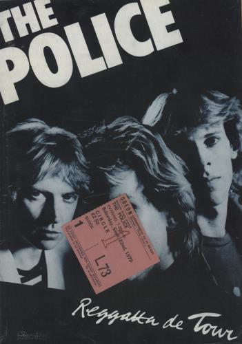 The Police Regatta De Tour + Ticket Stub tour programme UK POLTRRE756641
