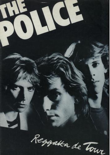 The Police Regatta De Tour tour programme UK POLTRRE140519