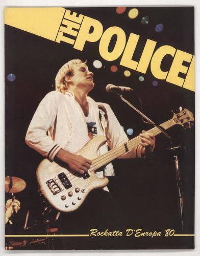 The Police Rockatta D'europa '80 tour programme UK POLTRRO738700
