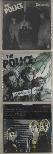 "The Police Six Pack - Blue Vinyl + PVC Pack - EX 7"" vinyl single (7 inch record) UK POL07SI116253"