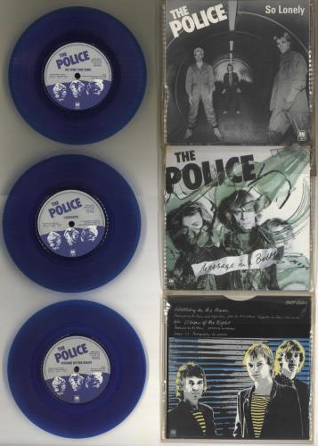 "The Police Six Pack - Blue Vinyl 7"" vinyl single (7 inch record) UK POL07SI05950"