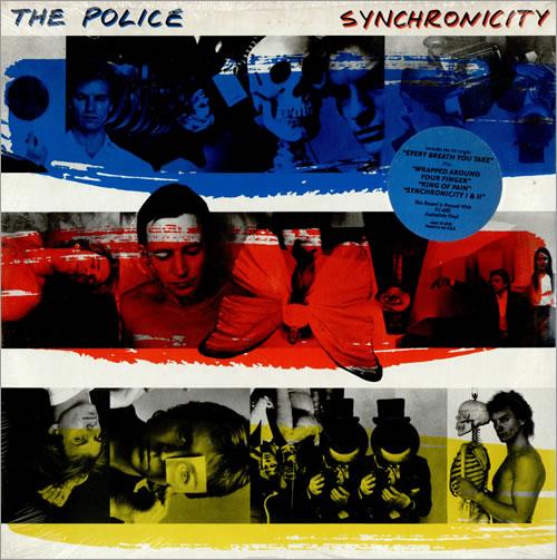 The Police Synchronicity B R Y Blue Sticker Us Vinyl