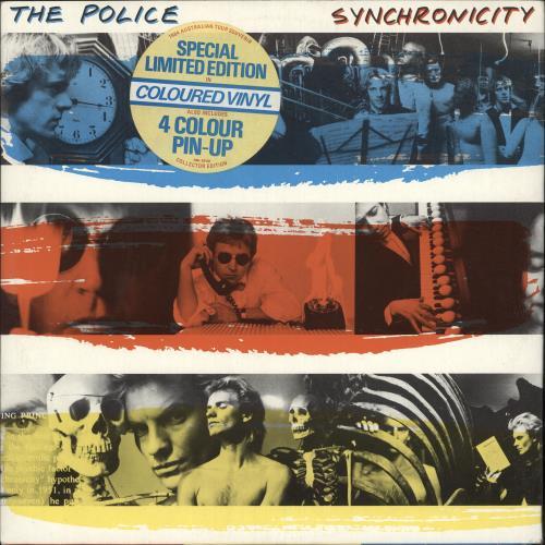 The Police Synchronicity Red Vinyl Australian Vinyl Lp