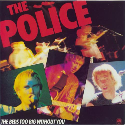 """The Police The Bed's Too Big Without You - Blue Vinyl 7"""" vinyl single (7 inch record) UK POL07TH592548"""