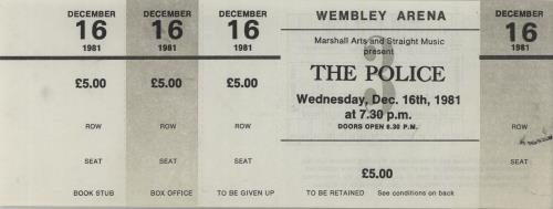 The Police Ticket Proofs concert ticket UK POLTITI670112