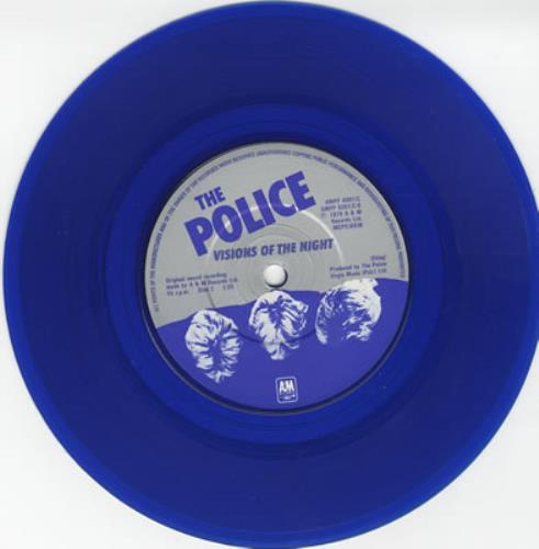 The Police Walking On The Moon Blue Vinyl Uk 7 Quot Vinyl