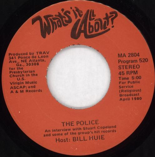 """The Police What's It All About 7"""" vinyl single (7 inch record) US POL07WH202150"""