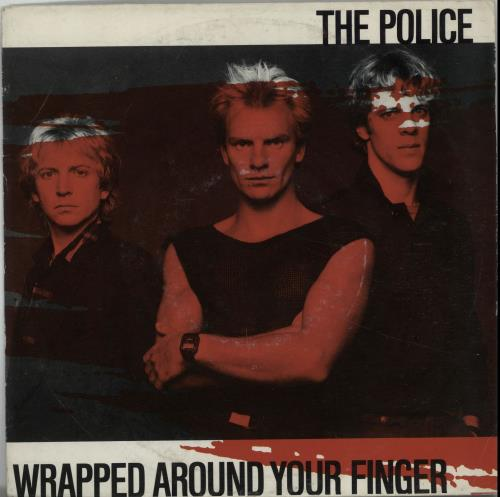 """The Police Wrapped Around Your Finger - Red P/S 7"""" vinyl single (7 inch record) Dutch POL07WR654570"""