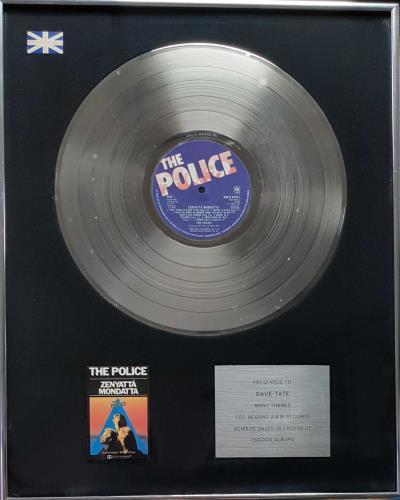 The Police Zenyatta Mondatta award disc UK POLAWZE693539