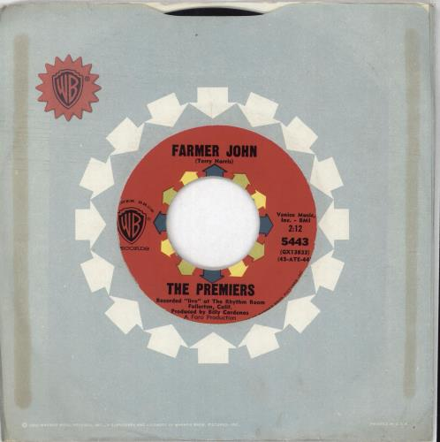 "The Premiers Farmer John 7"" vinyl single (7 inch record) US YZW07FA712275"