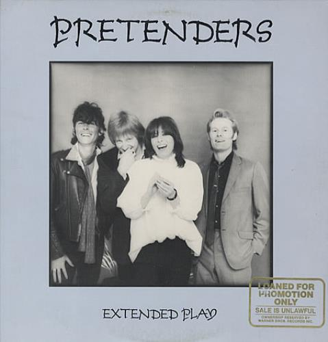"""The Pretenders Extended Play - Gold Promo Stamp 12"""" vinyl single (12 inch record / Maxi-single) US PTN12EX337447"""