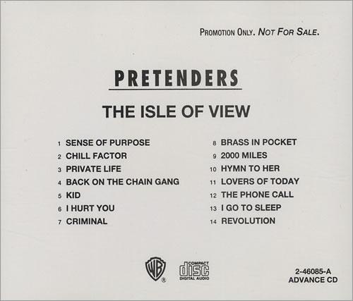 The Pretenders The Isle Of View Us Promo Cd Album Cdlp