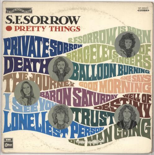 The Pretty Things S.F. Sorrow - Red Vinyl vinyl LP album (LP record) Japanese PTHLPSF728328