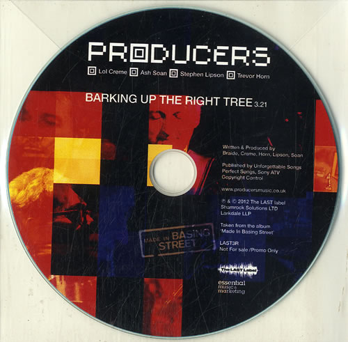 The Producers Barking Up The Right Tree CD-R acetate UK PR9CRBA631479