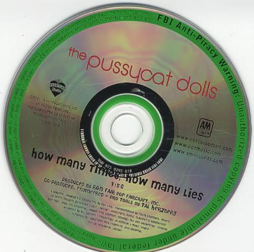 "The Pussycat Dolls How Many Times, How Many Lies CD single (CD5 / 5"") US PYDC5HO386264"