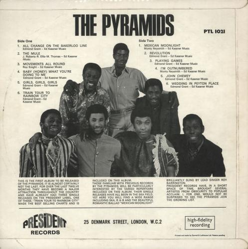 The Pyramids (60s) The Pyramids vinyl LP album (LP record) UK PYRLPTH725430