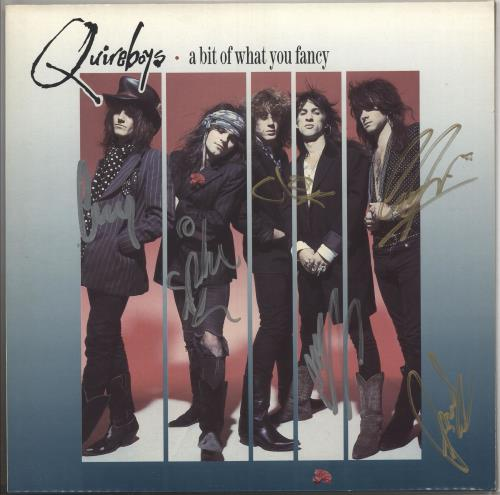 The Quireboys A Bit Of What You Fancy - Fully Autographed vinyl LP album (LP record) UK QUILPAB505963