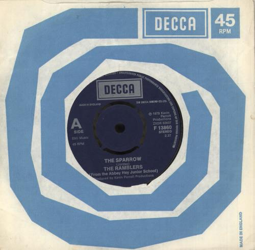 """The Ramblers (70s) The Sparrow - 4prong 7"""" vinyl single (7 inch record) UK XMX07TH743071"""