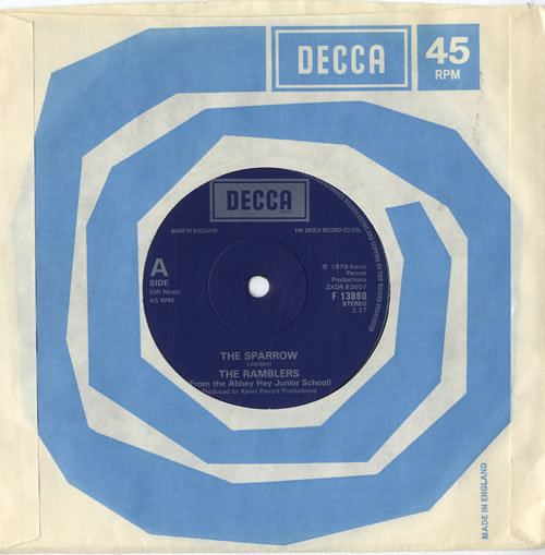 """The Ramblers (70s) The Sparrow - Solid 7"""" vinyl single (7 inch record) UK XMX07TH601506"""