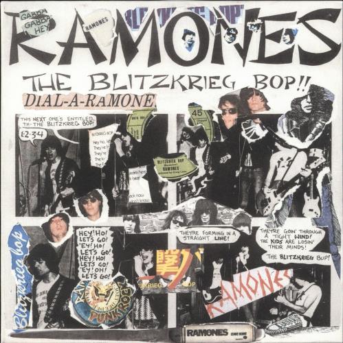 "The Ramones Blitzkrieg Bop - Punk Art sleeve 7"" vinyl single (7 inch record) UK RAM07BL708112"