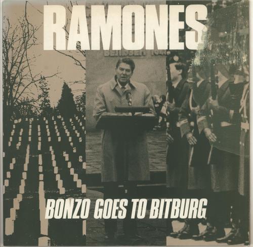 "The Ramones Bonzo Goes To Bitburg - Misprint sleeve 12"" vinyl single (12 inch record / Maxi-single) UK RAM12BO713787"