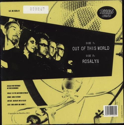 "The Rezillos Out Of This World - Numbered Sleeve 7"" vinyl single (7 inch record) UK REZ07OU768581"