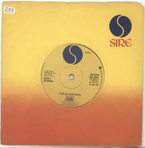 "The Rezillos Top Of The Pops - Rezillos logo label 7"" vinyl single (7 inch record) UK REZ07TO690402"