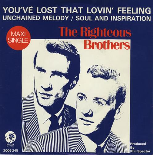 "The Righteous Brothers You've Lost That Lovin' Feeling 7"" vinyl single (7 inch record) Dutch TRB07YO405710"