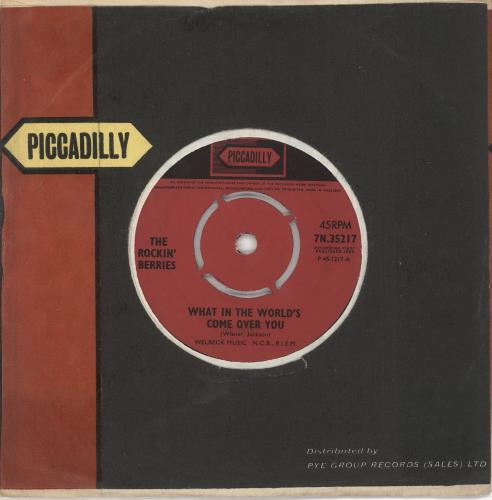 """The Rockin' Berries What In The World's Come Over You 7"""" vinyl single (7 inch record) UK KBR07WH723399"""