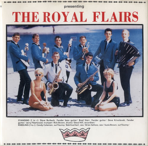 """The Royal Flairs Surfin' With The Royal Flairs EP 7"""" vinyl single (7 inch record) US U8W07SU550908"""