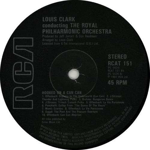 """The Royal Philharmonic Orchestra Hooked On A Can Can 12"""" vinyl single (12 inch record / Maxi-single) UK RPO12HO654874"""