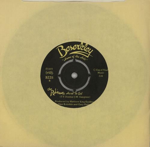 "The Rubinoos Hard To Get 7"" vinyl single (7 inch record) UK RUZ07HA574852"