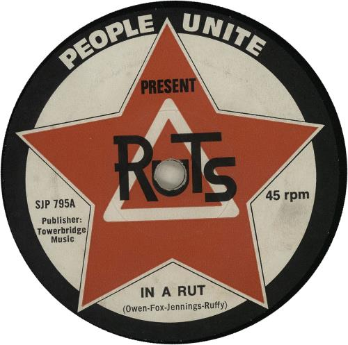 The Ruts In A Rut 1st Uk 7 Quot Vinyl Single 7 Inch Record