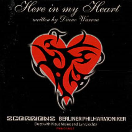 The Scorpions Here In My Heart CD-R acetate UK SCOCRHE247604