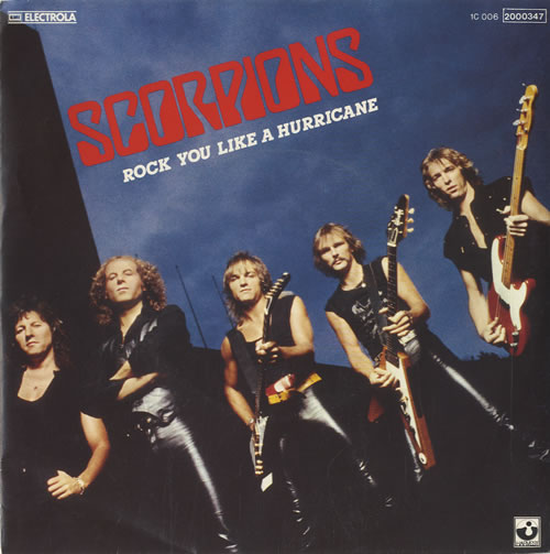 "The Scorpions Rock You Like A Hurricane 7"" vinyl single (7 inch record) German SCO07RO456971"