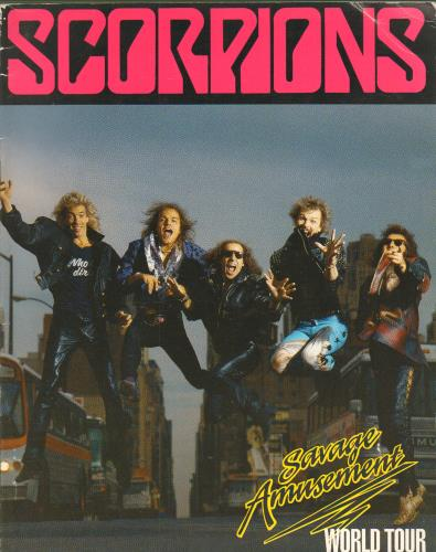 The Scorpions Savage Amusement tour programme UK SCOTRSA91325