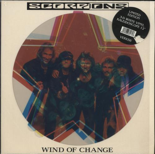 "The Scorpions Wind Of Change - 3D + Stickered sleeve 12"" vinyl single (12 inch record / Maxi-single) UK SCO12WI01192"