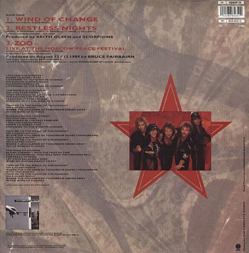 "The Scorpions Wind Of Change - Red Vinyl 12"" vinyl single (12 inch record / Maxi-single) UK SCO12WI44371"