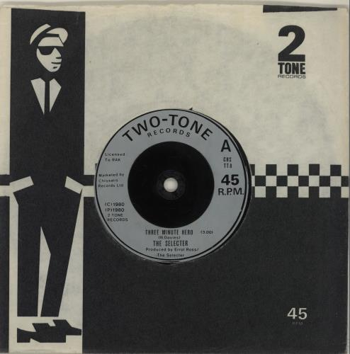 "The Selecter Three Minute Hero - Injection 7"" vinyl single (7 inch record) UK SEL07TH385079"