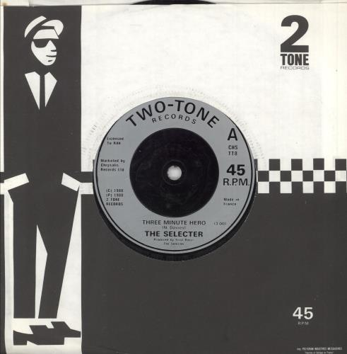 "The Selecter Three Minute Hero 7"" vinyl single (7 inch record) French SEL07TH747005"