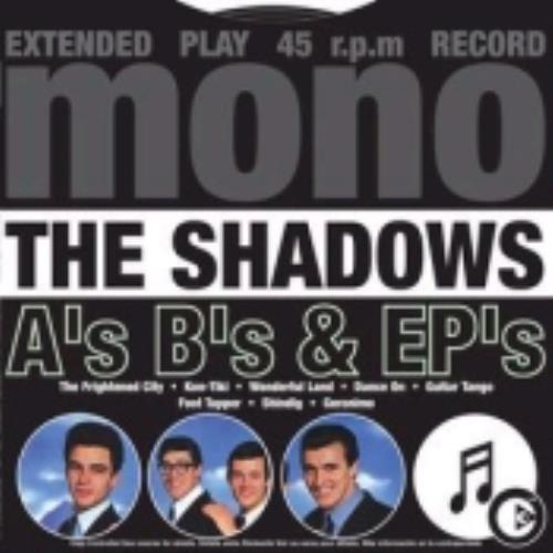 The Shadows A's B's & EP's CD album (CDLP) UK SHDCDAS245093