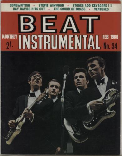 The Shadows Beat Instrumental Monthly No. 34 magazine UK SHDMABE764304