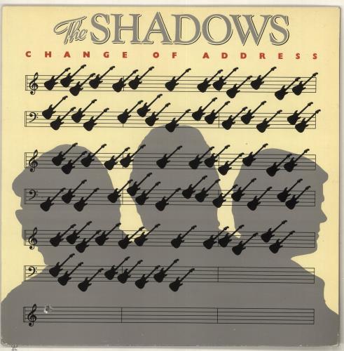 The Shadows Change Of Address + Merchandise insert vinyl LP album (LP record) UK SHDLPCH727762