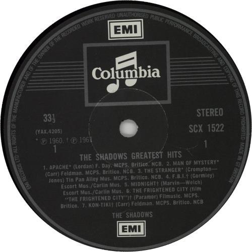 The Shadows Greatest Hits - Two Box - EMI vinyl LP album (LP record) UK SHDLPGR235383