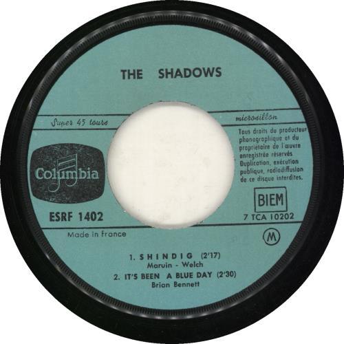 "The Shadows Shazam EP 7"" vinyl single (7 inch record) French SHD07SH688673"